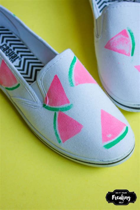 diy watermelon shoes do it your freaking self diy watermelon shoes do it