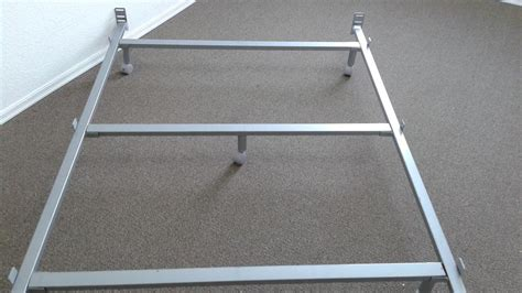 Bed Frame Support Bar Silver Grey Double Bed Frame Like New 3 Cross Bars For