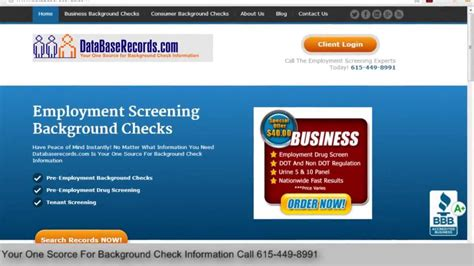 Employment Screening Background Check Pre Employment Screening Background Checks Databaserecords