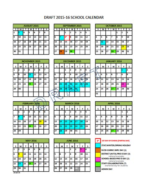Evergreen Academic Calendar Vancouver School District Calendar 2017 My