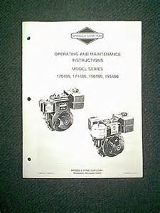 briggs stratton 550e series engine manual briggs free