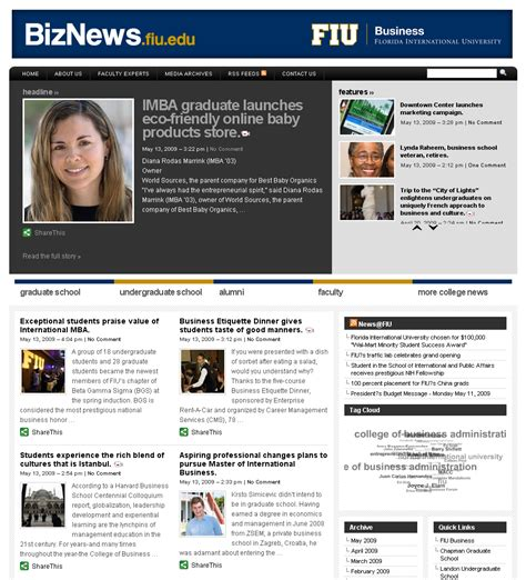 Fiu Mba Options by Fiu Business S News Portal Marks One Year Anniversary
