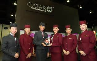 qatar airways bags best cabin crew award from business