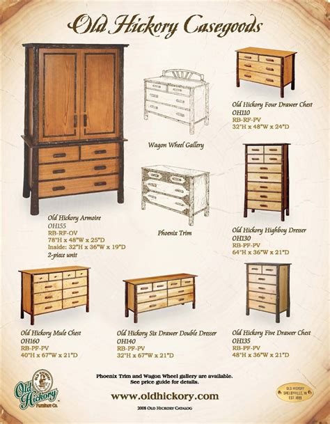 Hickory Bedroom Furniture Hickory 6 Drawer Split Top Dresser Oh140 Hickory Log Dressers The Log