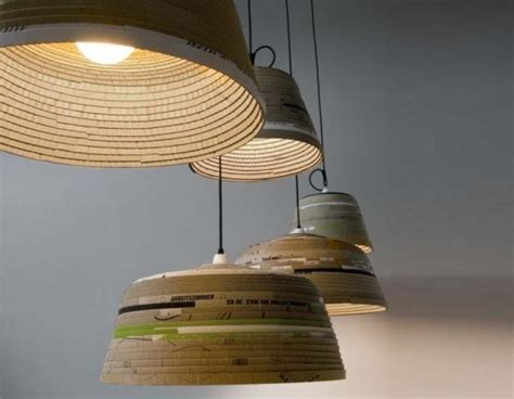 Michael Wolke Creates Sculptural Pendant Ls From Strips Cardboard Pendant Light