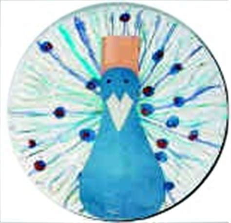 Peacock Paper Plate Craft - peacock crafts