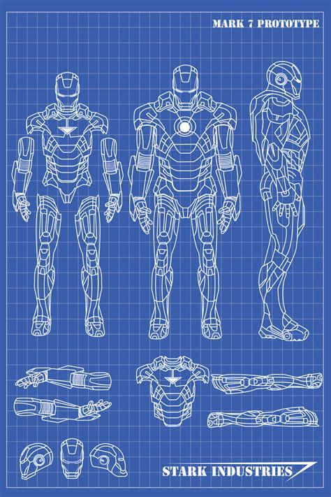iron man blueprints nickgonzales deviantart