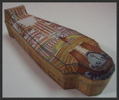 sealed egyptian sarcophagus free paper model download