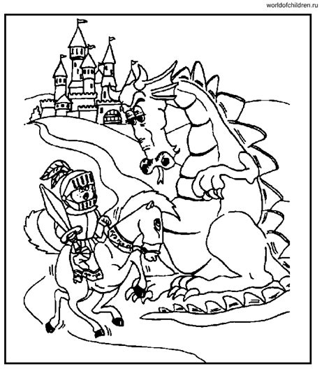 coloring pages of dragons and knights coloring pages knights and dragons coloring home