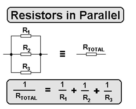 equation for resistors in parallel cyberphysics
