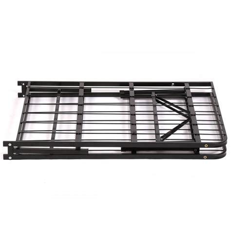 New Bed Frame New Modern Bi Fold Folding Platform Metal Bed Frame Mattress Foundation Bf Ebay