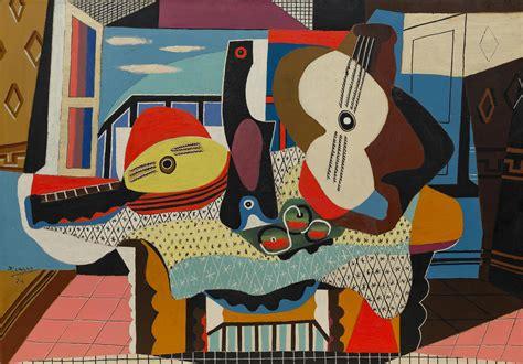 imagenes figurativas de pablo picasso mandolin and guitar