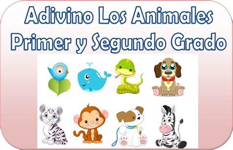 los animales mi primer adivinando los animales para primer y segundo grado educaci 243 n primaria