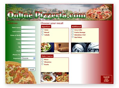 creating an online food order form premium content