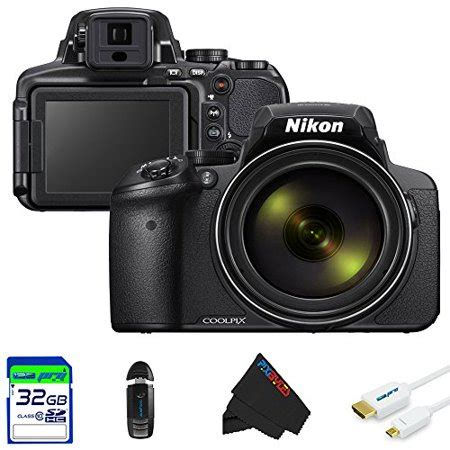 nikon coolpix p900 digital with 83x optical zoom and built in wi fi black 32gb pixi