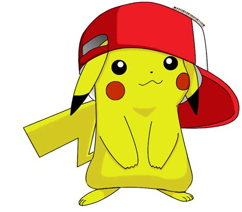 Archivo cute pikachu with hat by mlpochea d63xlom png wikia