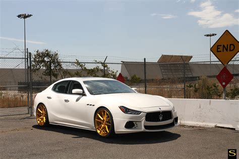 gold maserati ghibli wald maserati ghibli black di forza bm12 savini wheels