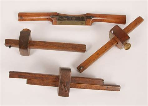 wooden tools lot of four antique treen wooden tools including a wood