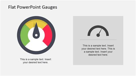 Flat Dashboard Gauges For Powerpoint Slidemodel Powerpoint Dashboard Gauges