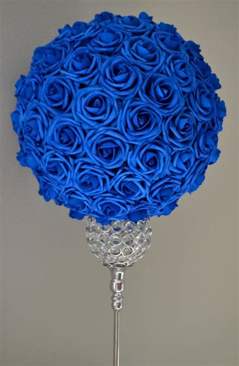 blue and gold centerpiece ideas best 25 royal blue centerpieces ideas on