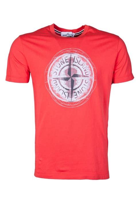 shirt design maker uk stone island casual designer t shirt in red orange and