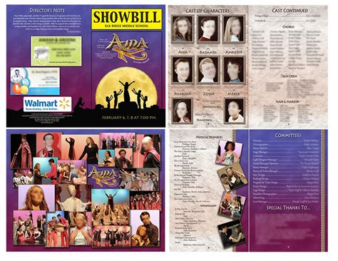 Real Scrappy Digital Scrapbooking From Start To Finish Play Program Exles And Templates Theatre Program Template 2