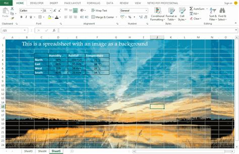 background excel use an image as a background in excel