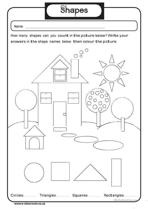 geometry shapes worksheet free esl printable worksheets