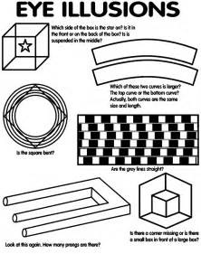 printable simple optical illusions optical illusions coloring pages coloring home