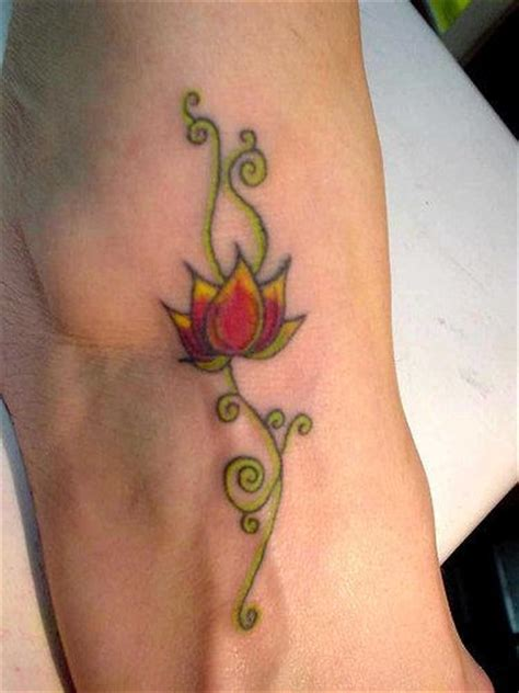 lotus flower foot tattoo designs sweet lotus on foot