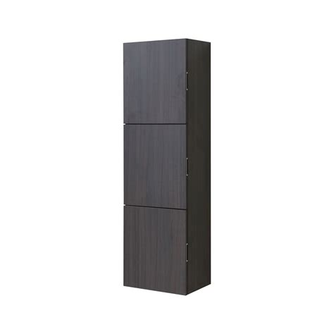 bathroom linen side cabinet bathroom gray oak linen side cabinet w 3 large storage