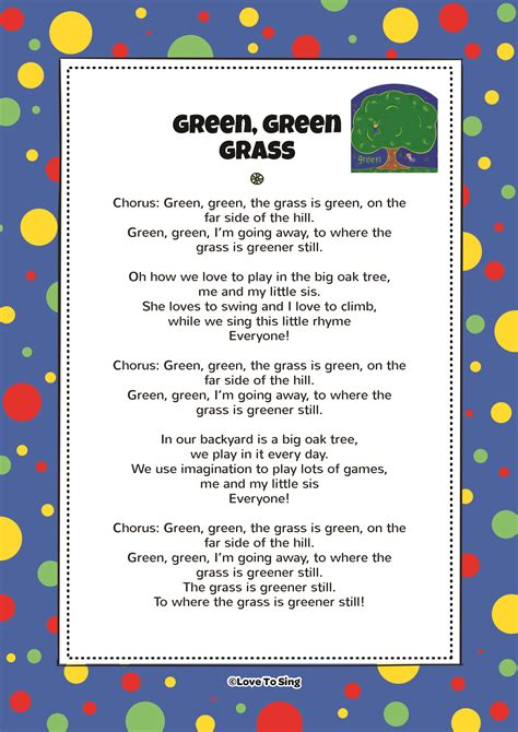 song testo green green grass song with free lyrics