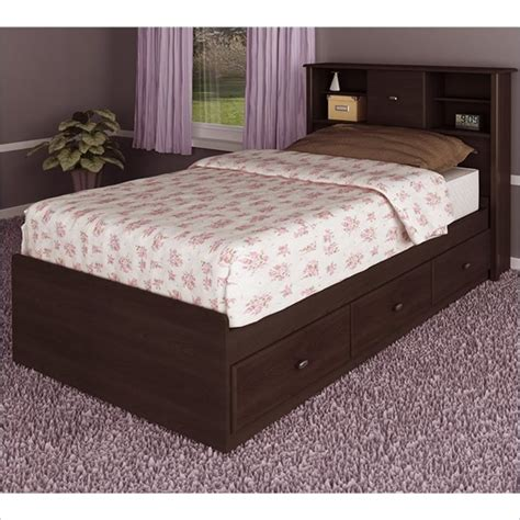 ameriwood storage bed ameriwood 3 drawer storage mates russet cherry