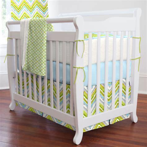 Chevron Crib Bedding by Chevron Baby Bedding Turquoise Chevron Baby Bedding