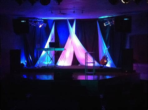 Church Stage Lighting by Criss Cross Church Stage Design Ideas