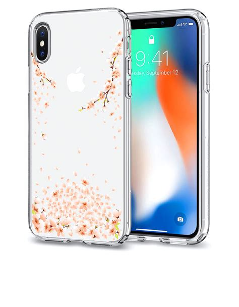 Spigen Liquid Iphone X Clear Original spigen liquid blossom clear for iphone x cases protectors mobile