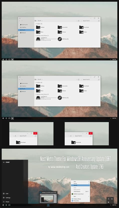 themes for windows 10 1703 nost metro theme windows10 creators update 1703