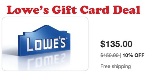 Lowes Gift Card Sale - discounted gift cards lowe s coupons 4 utah