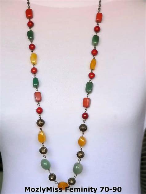 Kalung Batu Warna Mixed aksesoris muslimah aksesoris muslimah
