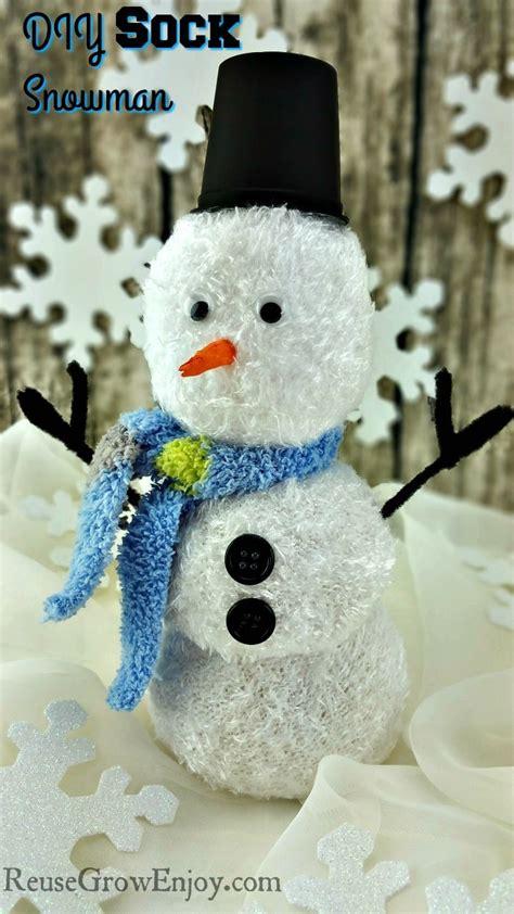 diy sock snowman diy sock snowman craft easy reuse grow enjoy