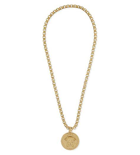 versace medusa pendant necklace selfridges