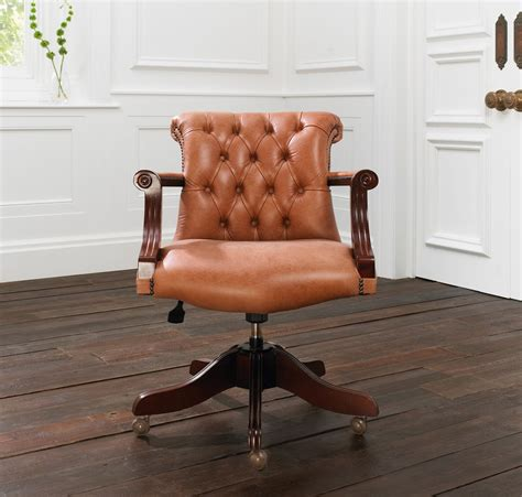armchair admiral the admiral leather office chair by distinctive chesterfields