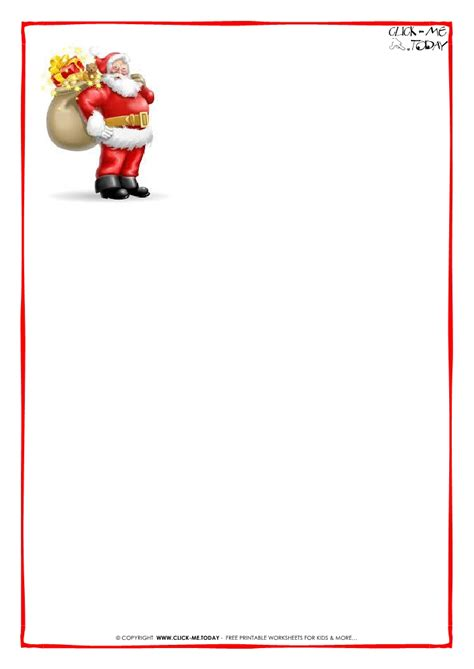 printable paper for santa letter printable letter to santa claus paper blank santa presents 8