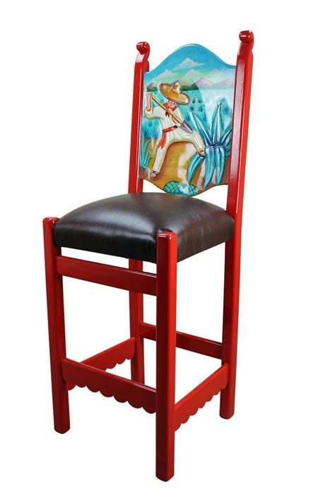 Mexican Painted Bar Stools mexican painted tables rustic mexican painted bar stool