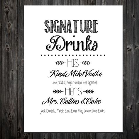 4 diy signature wedding cocktails and create