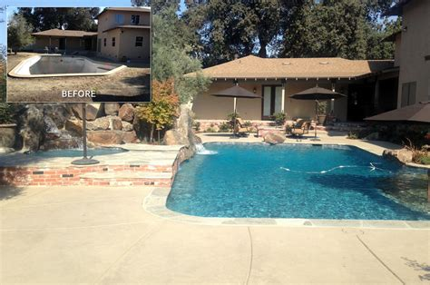 hanford pool remodel before after paradise pools