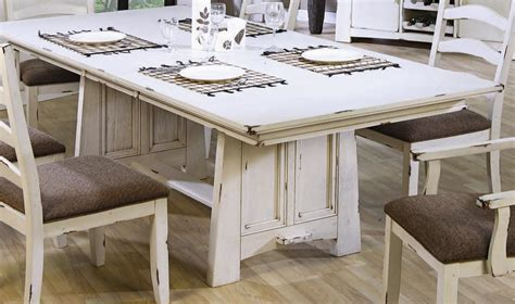 white distressed kitchen table dining table diy