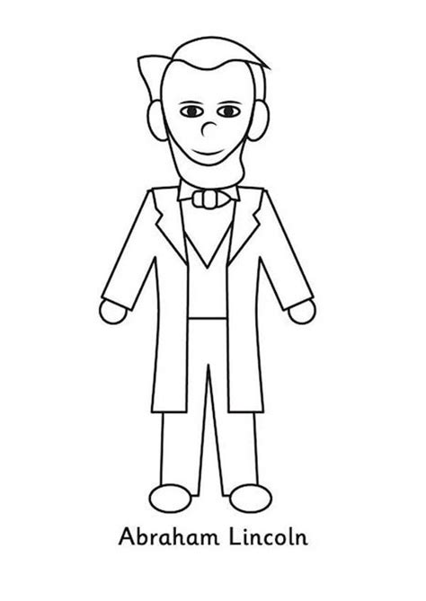 abraham lincoln coloring pages for kindergarten a kids drawing of abraham lincoln coloring page