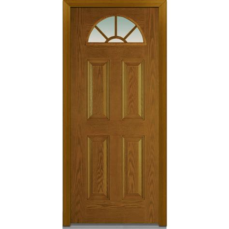 Pre Hung Exterior Doors Doorbuild Classic Collection Fiberglass Oak Prehung Entry Door Walnut 32 Quot X80 Quot 5 Lite