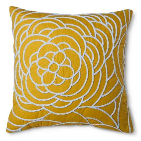Target Pillow by Xhilaration Trim Applique Decorative Pillow Target
